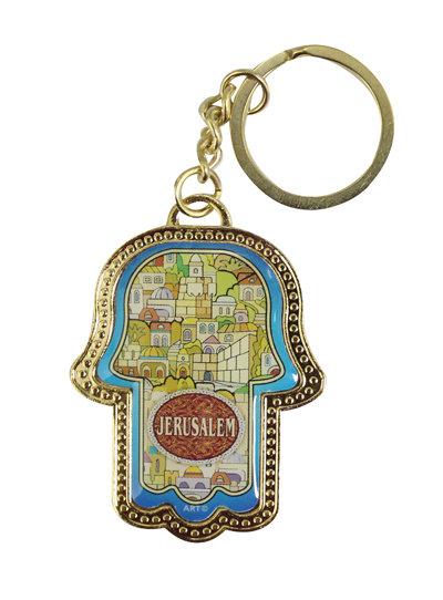 Hamsah Key chain - View of Jerusalem