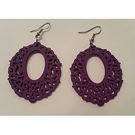 Wooden style earrings