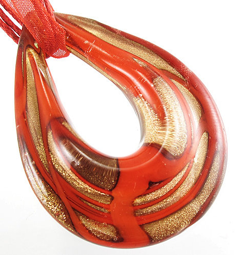 Red and Gold Oval
