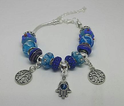 Bracelet with Hamsah and Tree of Life