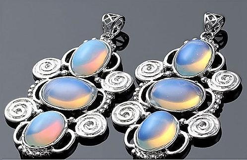 Vintage Boho necklace - Opalite
