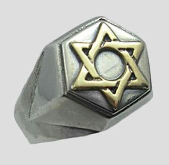 Star of David ring for man (Hexagon)