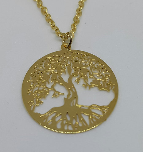 Tree of Life necklace (silver/gold)