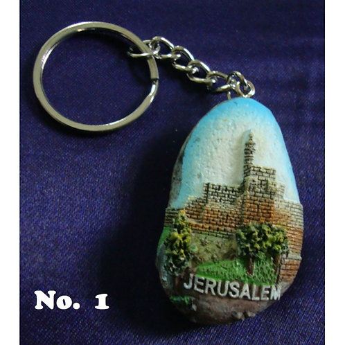 Painting on Stone - key chain