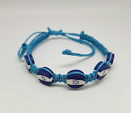 2 x Israel flag Bracelet