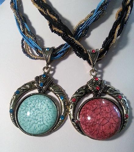 Vintage: Round Pendant - 4 colors