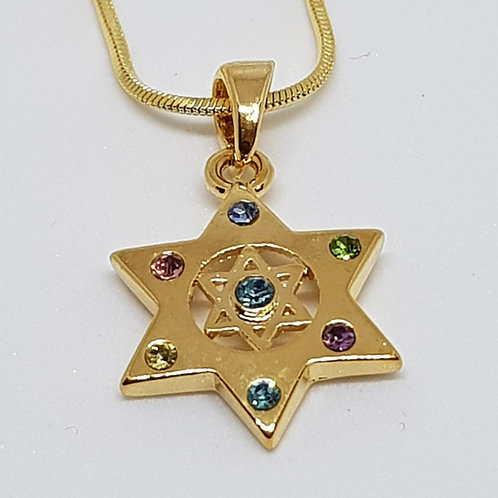 Star of david with zircons