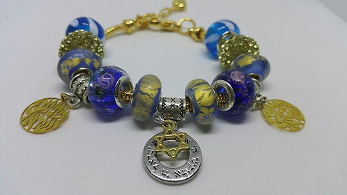 Bracelet with beads - Shema Israel