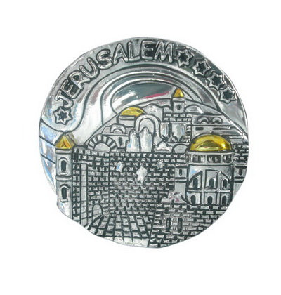 2 kind of 3D metal Jerusalem magnets