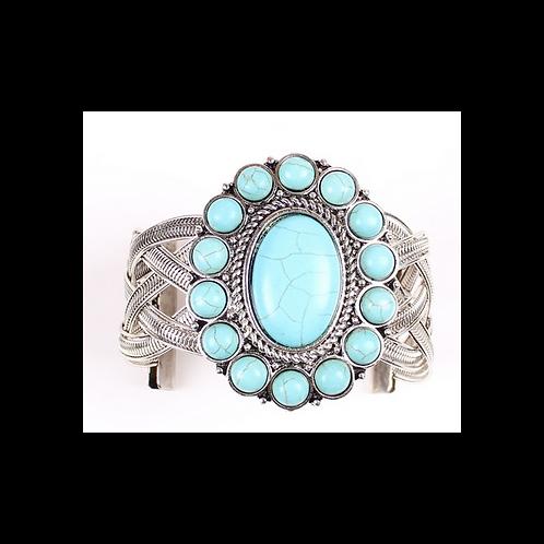 Special Design 9999 Turquoise Bracelet