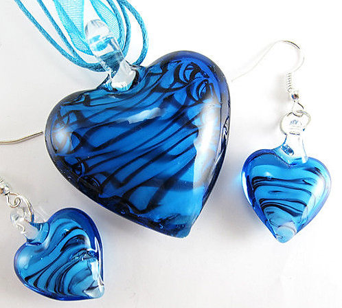 Heart Set - Necklace and Earrings