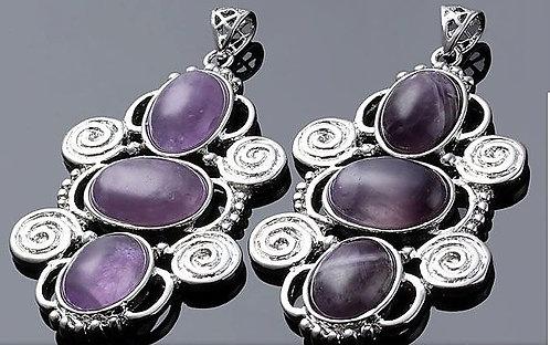 Vintage Boho necklace - Amethyst