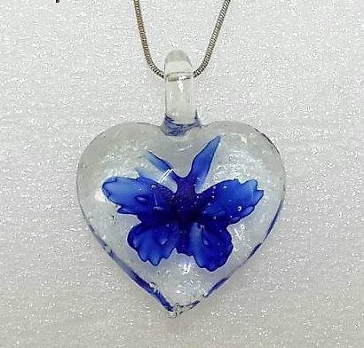 Murano Glass - Butterflies in heart