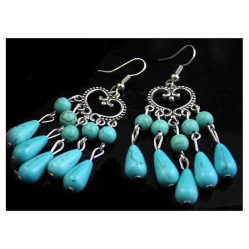 Turquoise Hearts Earrings