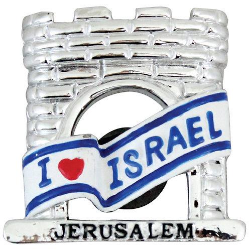 """2 kind of """"I love Israel"""" magnets"""