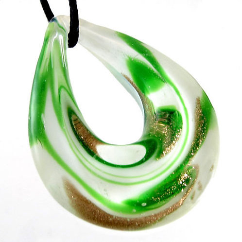 Green and Gold Oval
