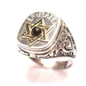 Jerusalem ring for man