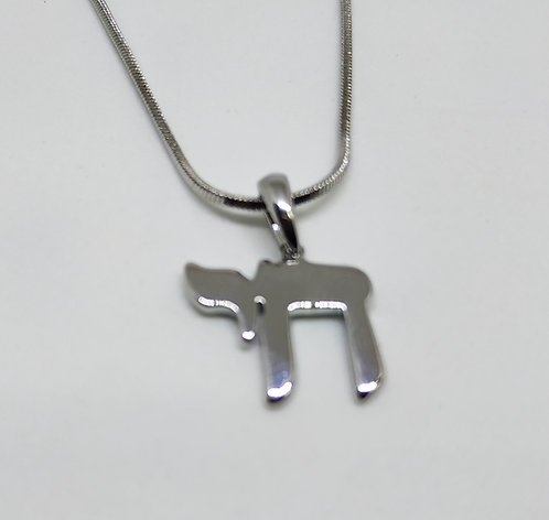 Silver Chai necklace