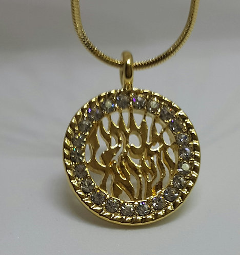 Shema Israel necklace with zircons