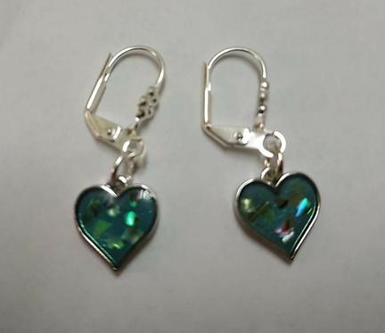 Heart Opal earrings