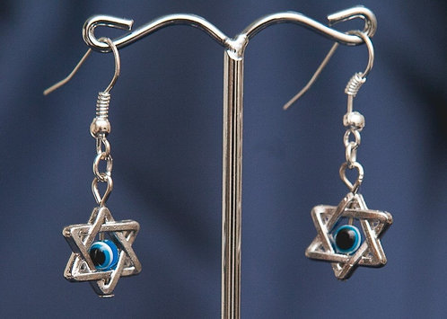 Eye in Star of David Earrings