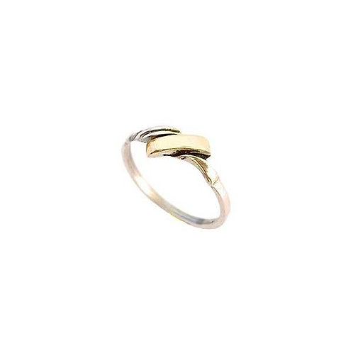 Silver with Gold ring