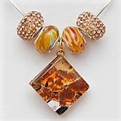 Murano Glass: Pendant and beads