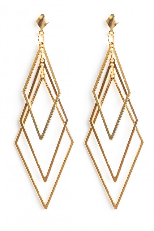 Hagar - trio rhombus earrings