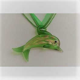 Murano Glass - Dolphin necklace