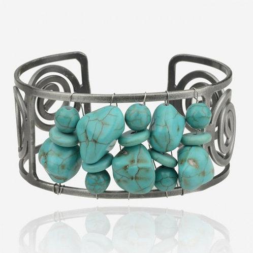 Natural Turquoise Stone Bracelet