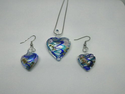 Heart Set - Necklace and Earring (new)