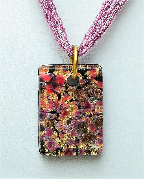 Murano Glass Pendant with beads chain
