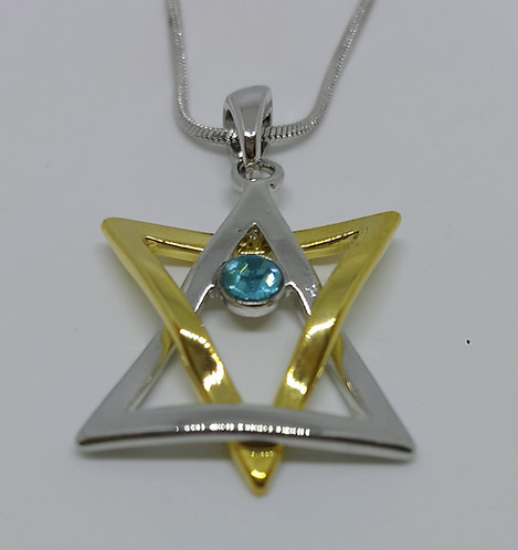Star of David in 2 colors and crystal