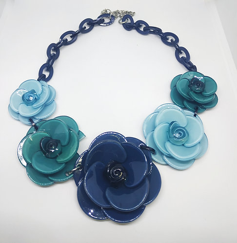 Happy flower - Shades of blue