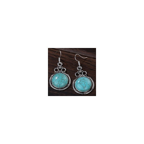 Turquoise Pomegranate Earrings