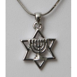 Menorah on Star of David