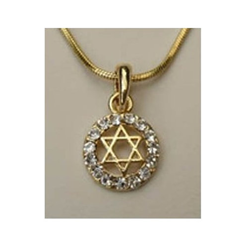 Star of David With Zircons - Gold or Silver