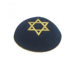 2 Blue Kippah's with Star of David