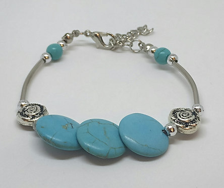Noa 513  turquoise stone bracelet.