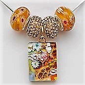 Murano Glass: Pendant and beads