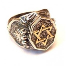 Star of David ring for man
