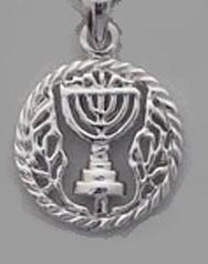 Menorah on Lace - Gold/Silver plated
