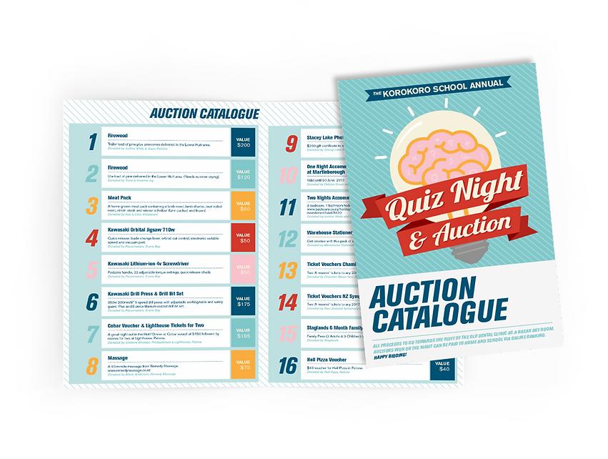 Korokoro School Quiz Auction Catalogue