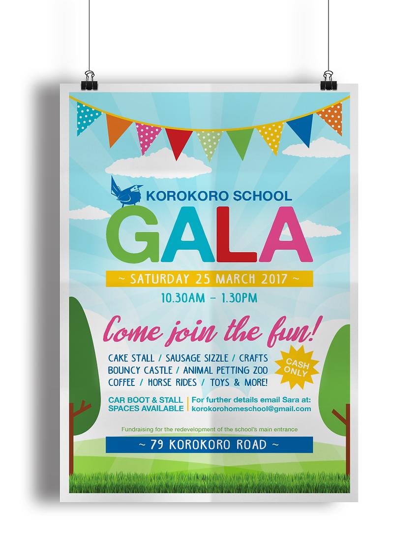 Korokoro School Gala Poster