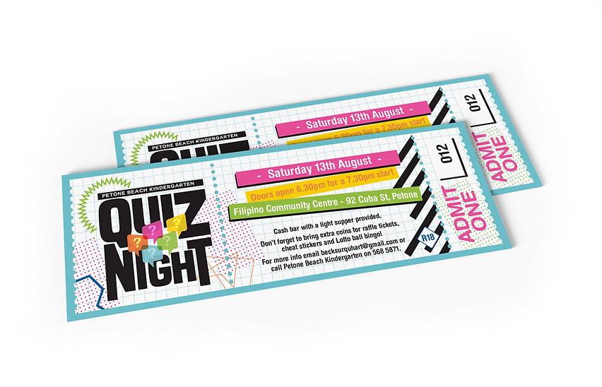 Petone Beach Kindergarten Quiz Tickets
