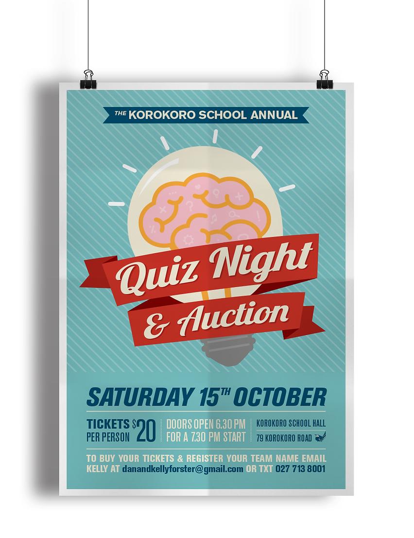 Korokoro School Quiz Poster