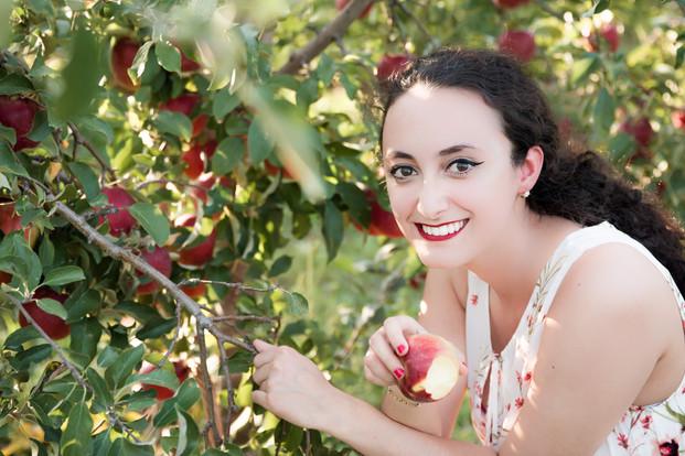 Girl Apples Fall Cherry Valley Photographer