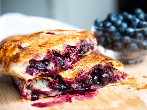 Easy Blackberry & Blueberry Strudel- using a pizza stone