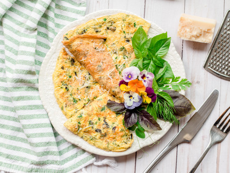 Fresh Herbs and Feta Omelet