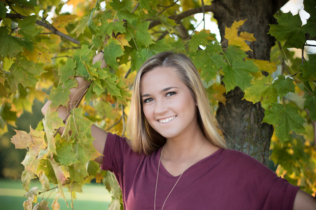fall senior photography
